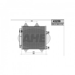 Radiatore aria condizionata A/C Toyota aigo